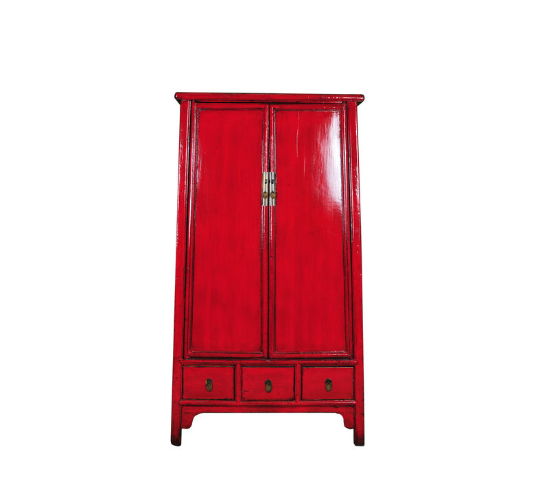Antique Chinese Wedding Cabinet Red W107xD47xH193cm