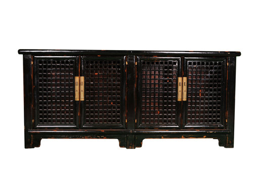 Fine Asianliving Antique Chinese Sideboard with Marble on Top W187xD42xH85cm