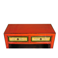 Antique Chinese Sideboard Hand-painted Red W95xD40xH85cm