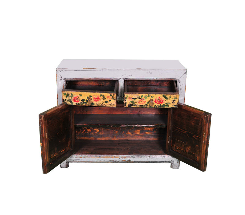 Antique Chinese Sideboard Handpainted W100xD40xH85cm