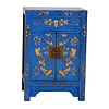 Fine Asianliving Chinese Cabinet Hand-painted Butterflies Blue W58xD37xH85cm