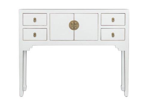Fine Asianliving Consolle Cinese Bianco - Orientique Collezione L100xP26xA80cm