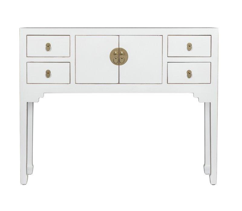 Chinese Sidetable Sneeuwwit - Orientique Collection B100xD26xH80cm