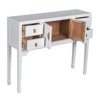Chinese Sidetable Wit - Snow White - Orientique Collectie B100xD26xH80cm