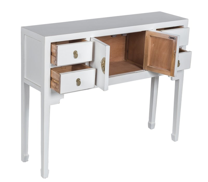 Chinese Sidetable Snow White - Orientique Collection W100xD26xH80cm