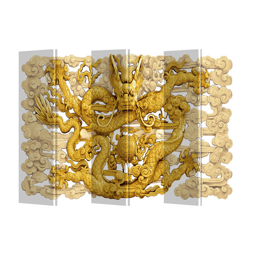 Fine Asianliving Room Divider Privacy Screen 6 Panel Dragon L240xH180cm