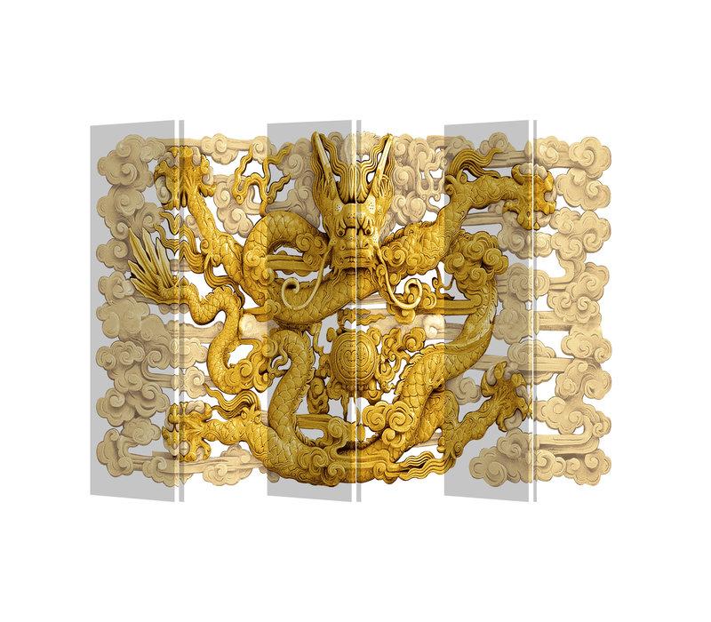 Kamerscherm Scheidingswand B240xH180cm 6 Panelen Draak