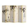 Fine Asianliving PREORDER 21/09 Fine Asianliving Biombos Separador de Habitaciones 6 Paneles Lona De Doble Cara Bamboo L240xH180cm