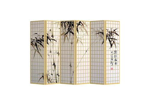 Fine Asianliving Kamerscherm Scheidingswand B240xH180cm 6 Panelen Bamboo