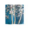 Fine Asianliving Fine Asianliving Biombos  Separador de Habitaciones 4 Paneles Lona De Doble Cara Blossom Trees L160xH180cm