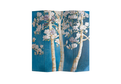 Fine Asianliving Fine Asianliving Room Divider Privacy Screen 4 Panel Blossom Trees L160xH180cm