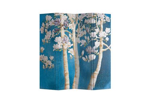 Fine Asianliving Paravent Cloison Amovible Séparateur de Pièce 4 Panneaux Blossom Trees L160xH180cm