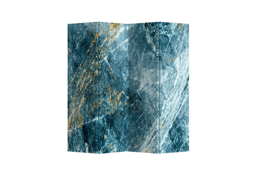 Fine Asianliving Raumteiler Trennwand B160xH180cm 4-teilig Marmor Himmelblau