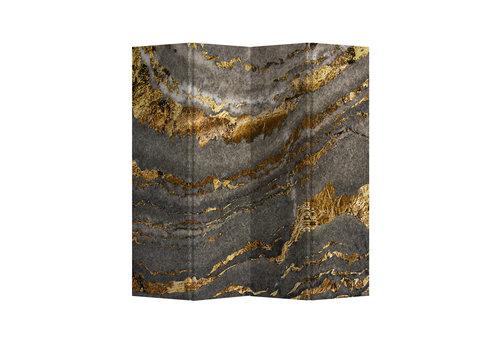 Fine Asianliving Paravento Divisori Tela 4 Pannelli Pieghevole Separatore Marble Earth L160xH180cm