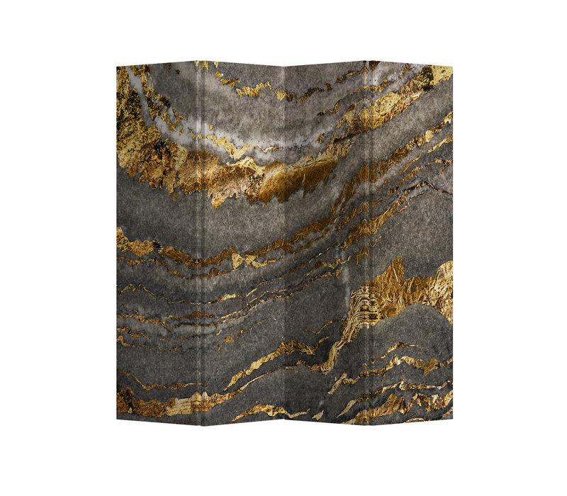 Kamerscherm Scheidingswand 4 panelen  Marble Earth  L160xH180cm