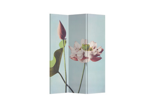 Fine Asianliving Fine Asianliving Room Divider Privacy Screen 3 Panel Retro Lotus L120xH180cm