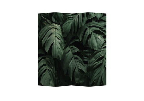 Fine Asianliving Paravent Raumteiler Trennwand 4-teilig Botanische Blätter B160xH180cm