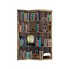 Fine Asianliving PREORDER 21/09 Fine Asianliving Kamerscherm Scheidingswand 3 panelen Boekenkast L120xH180cm