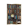 Fine Asianliving Raumteiler Trennwand B120xH180cm 3-teilig Bücherregal