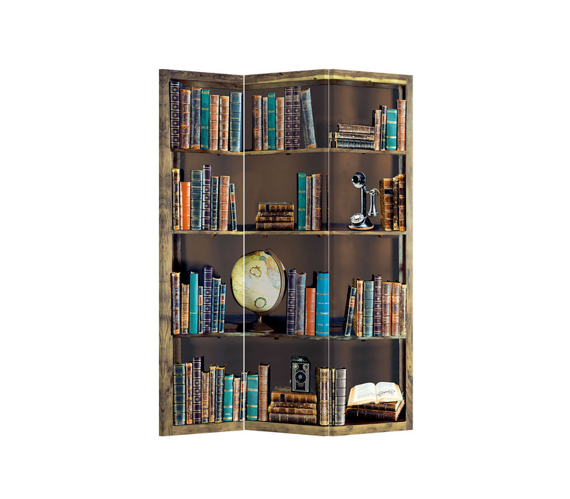 Raumteiler Trennwand B120xH180cm 3-teilig Bücherregal