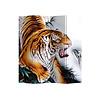 Fine Asianliving Fine Asianliving Paravent Cloison Amovible Séparateur de Pièce 4 Panneaux Chinese Tiger L160xH180cm