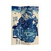 Fine Asianliving Fine Asianliving Paravent Cloison Amovible Séparateur de Pièce 3 Panneaux Japanese Empress L120xH180cm