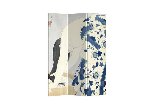 Fine Asianliving Fine Asianliving Room Divider Privacy Screen 3 Panel Japanese Woman L120xH180cm