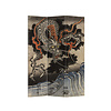 Fine Asianliving Fine Asianliving Room Divider Privacy Screen 3 Panel Japanese Dragon L120xH180cm
