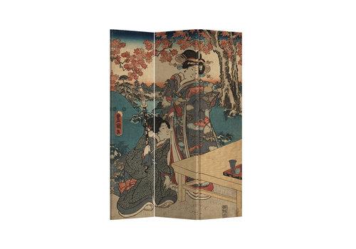 Fine Asianliving Fine Asianliving Raumteiler Paravent Sichtschutz Trennwand Japanese Empress L120xH180cm