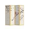 Fine Asianliving Kamerscherm Scheidingswand 4 panelen Japanese Sakura L160xH180cm