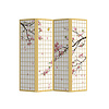 Fine Asianliving PREORDER 21/09 Fine Asianliving Room Divider Privacy Screen 4 Panel Japanese Sakura L160xH180cm