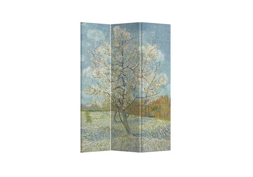 Fine Asianliving Room Divider Privacy Screen 3 Panel Pink Peach Tree Van Gogh L120xH180cm