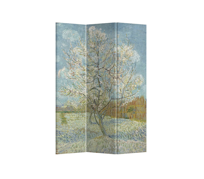 PREORDER 21/09 Fine Asianliving Room Divider Privacy Screen 3 Panel Pink Peach Tree Van Gogh L120xH180cm