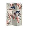Fine Asianliving Fine Asianliving Raumteiler Paravent Sichtschutz Trennwand Japanese Blue Birds Berries L120xH180cm