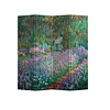 Fine Asianliving Fine Asianliving Room Divider Privacy Screen 4 Panel The Artist's Garden at Giverny Claude Monet L160xH180cm