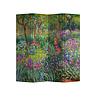 Fine Asianliving Fine Asianliving Paravent Cloison Amovible Séparateur de Pièce 4 Panneaux Irises in Monets Garden Claude Monet L160xH180cm