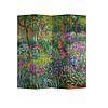 Fine Asianliving PREORDER 21/09 Fine Asianliving Room Divider Privacy Screen 4 Panel Irises in Monets Gardens Claude Monet L160xH180cm