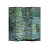 Fine Asianliving Kamerscherm Scheidingswand B160xH180cm 4 Panelen Bridgeover aPondofWater Lilies Claude Monet