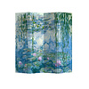 Fine Asianliving Fine Asianliving Kamerscherm 4 Panelen Waterlelies Claude Monet L160xH180cm