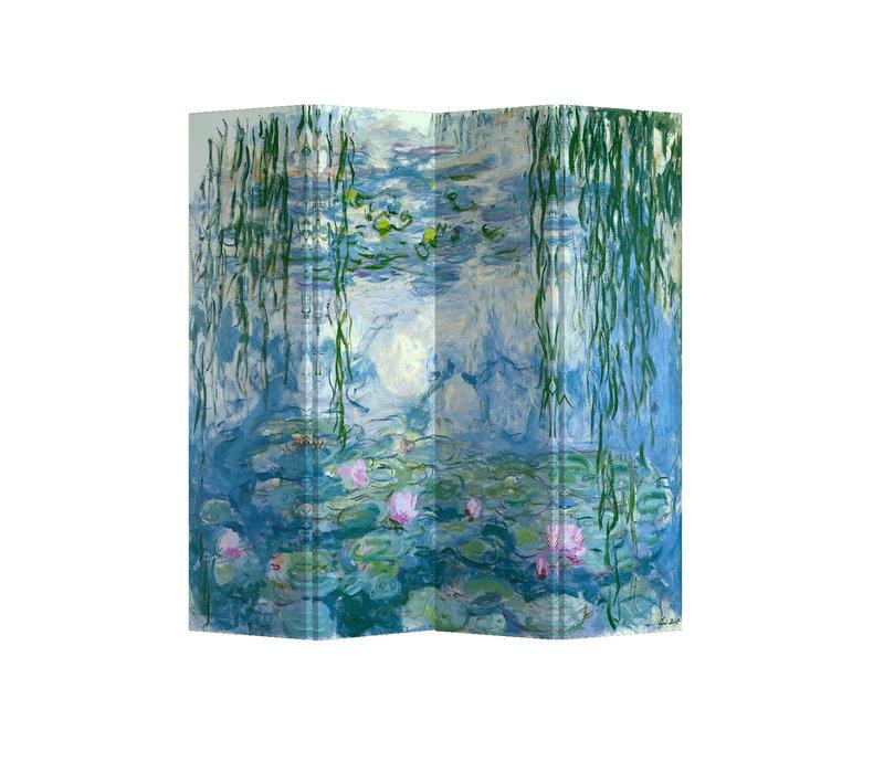 Fine Asianliving Kamerscherm 4 Panelen Waterlelies Claude Monet L160xH180cm