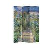 Fine Asianliving Fine Asianliving Kamerscherm Scheidingswand 3 panelen Monet's Tuin in Vetheuil L120xH180cm