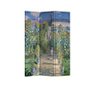 Fine Asianliving PREORDER 21/09 Fine Asianliving Kamerscherm Scheidingswand 3 panelen Monet's Tuin in Vetheuil L120xH180cm