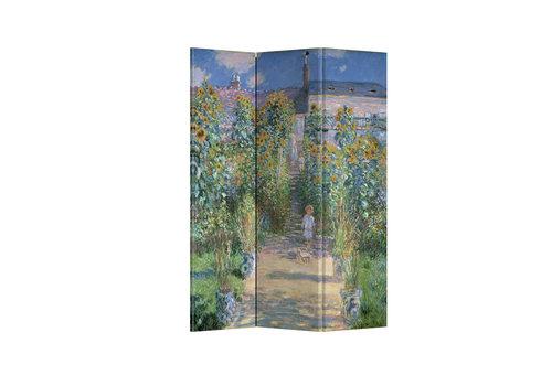 Fine Asianliving Fine Asinaliving Room Divider W120xH180cm Monet's Garden at Vetheuil