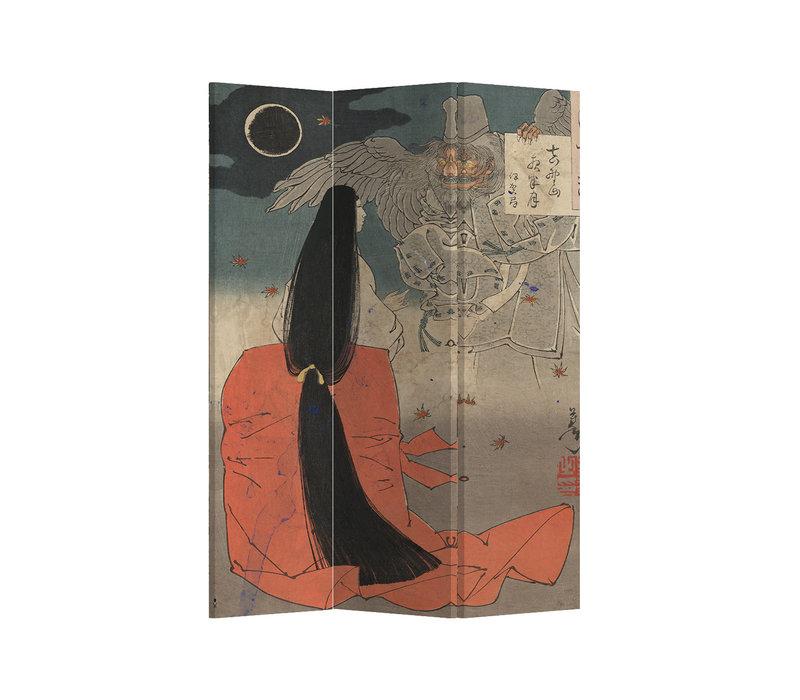 Fine Asianliving Kamerscherm Scheidingswand 3 panelen Japanese Myth L120xH180cm