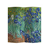 Fine Asianliving PREORDER 21/09 Fine Asianliving Room Divider Privacy Screen L160xH180cm 4 Panel Irises Van Gogh