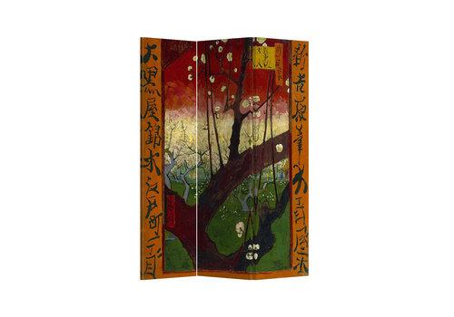 Fine Asianliving Fine Asianliving Raumteiler Paravent Sichtschutz Trennwand Flowering Plum Tree van Gogh L120xH180cm