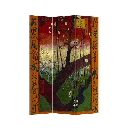 Fine Asianliving Room Divider W120xH180cm Flowering Plum Tree Van Gogh Inspiration from Japan