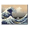 Fine Asianliving Schilderij Wall Art Kanagama Nami 70x90cm Handgemaakt Giclee