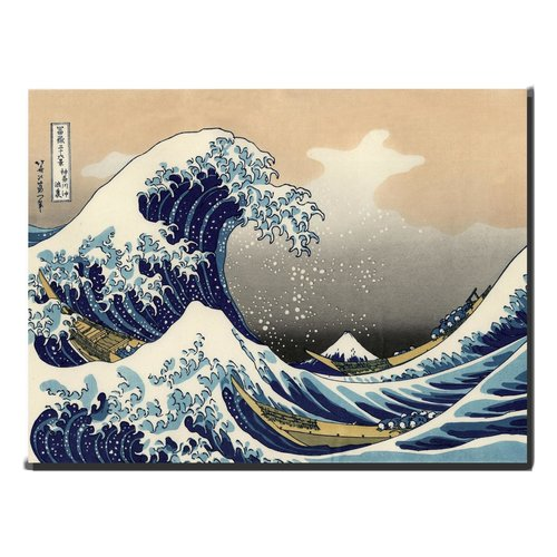 Painting Wall Art Kanagama Nami 70x90cm Hand Embellished Giclee Handmade