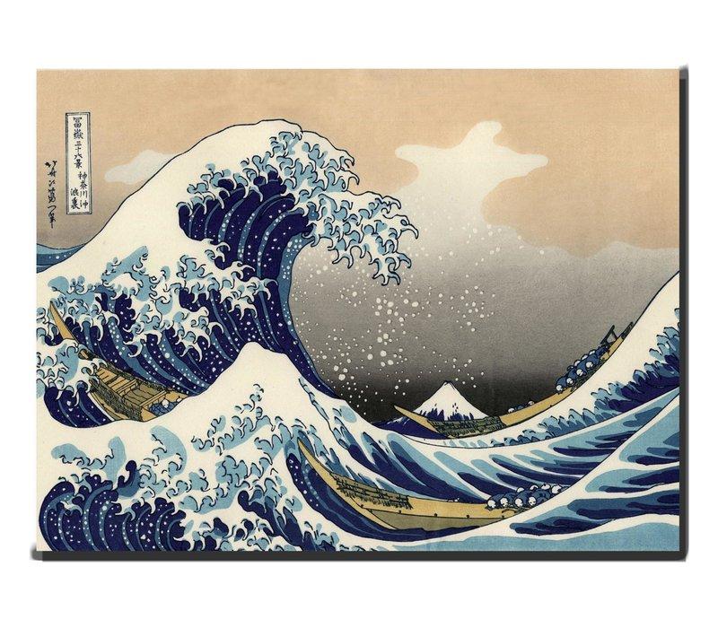 Schilderij Wall Art Kanagama Nami 70x90cm Handgemaakt Giclee